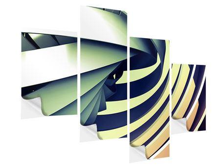 Klebeposter 4-teilig modern Abstrakte Perspektiven
