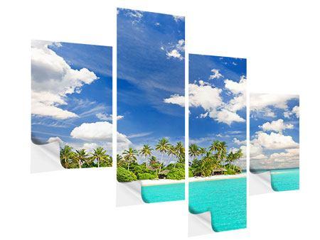 Klebeposter 4-teilig modern Meine Insel
