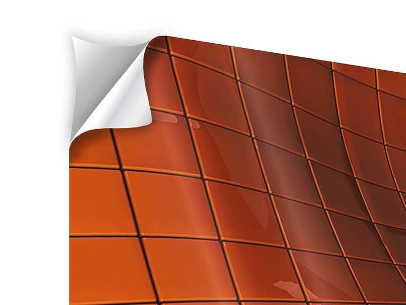 Klebeposter 4-teilig modern 3D-Kacheln
