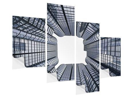 Klebeposter 4-teilig modern Besondere Perspektive