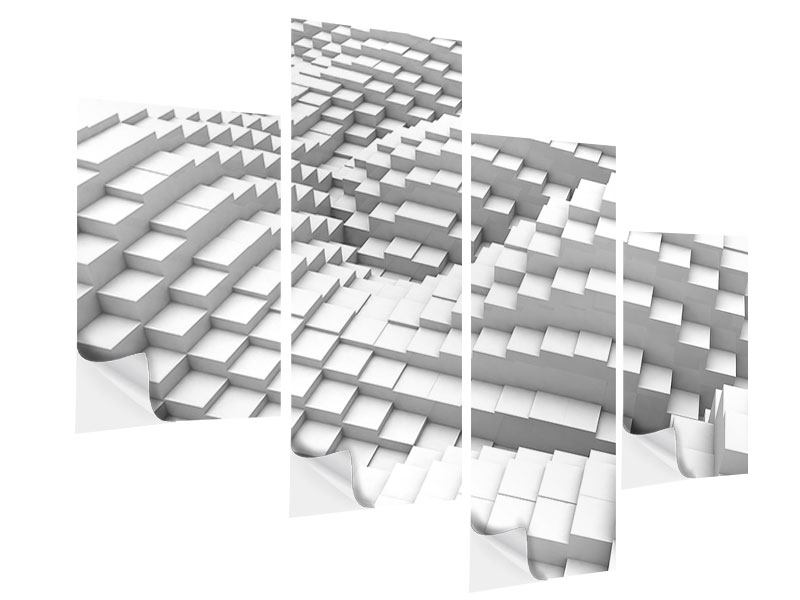 Klebeposter 4-teilig modern 3D-Elemente