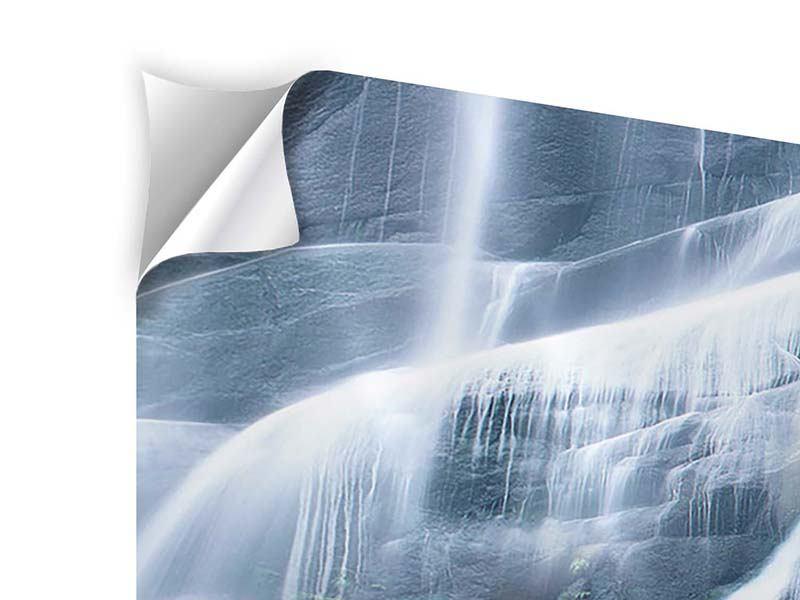 Klebeposter 4-teilig modern Grossartiger Wasserfall