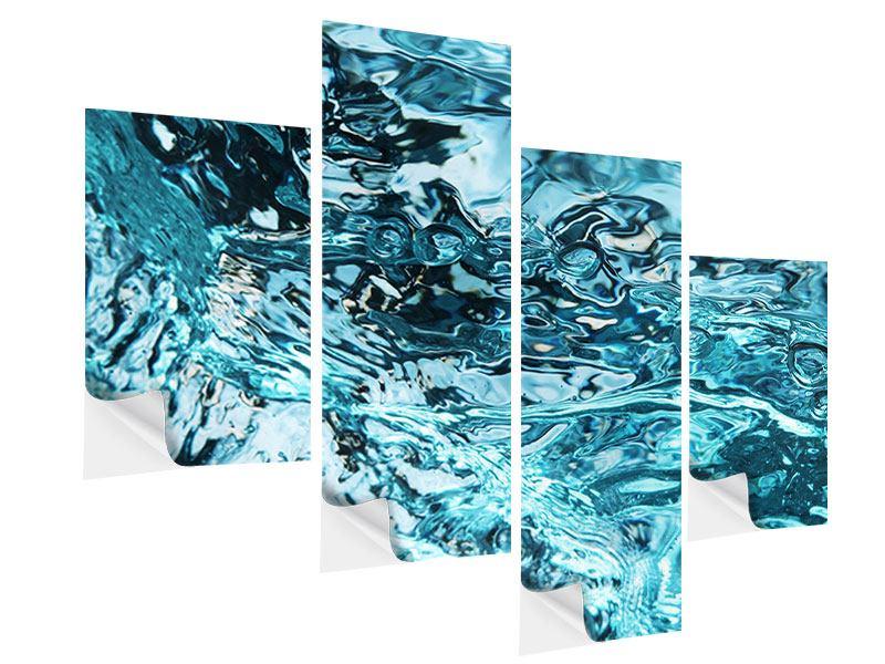 Klebeposter 4-teilig modern Schönheit Wasser