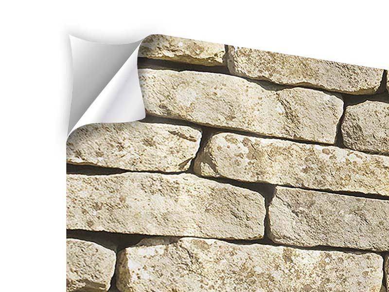 Klebeposter 4-teilig modern Alte Mauer