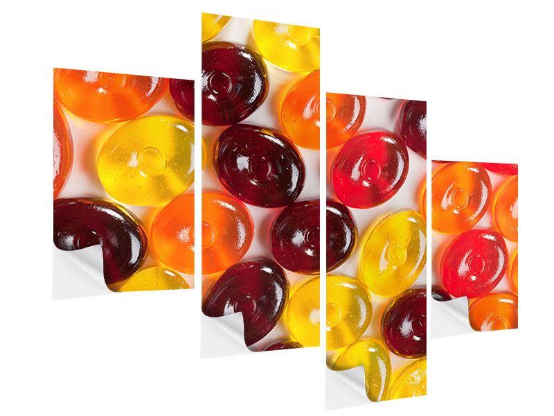 Klebeposter 4-teilig modern Bonbons