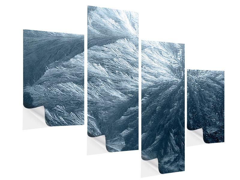 Klebeposter 4-teilig modern Eis