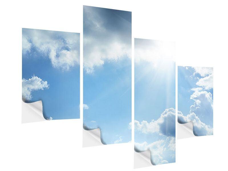 Klebeposter 4-teilig modern Himmelshoffnung