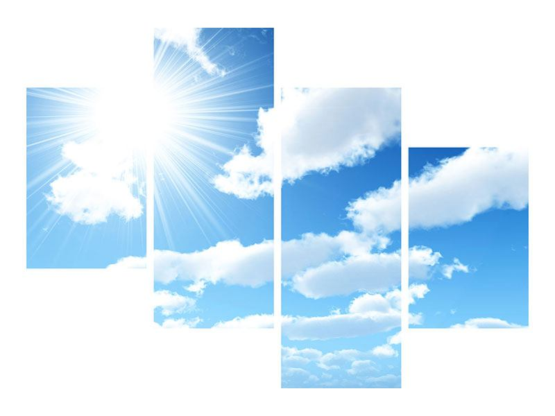 Klebeposter 4-teilig modern Am Himmel