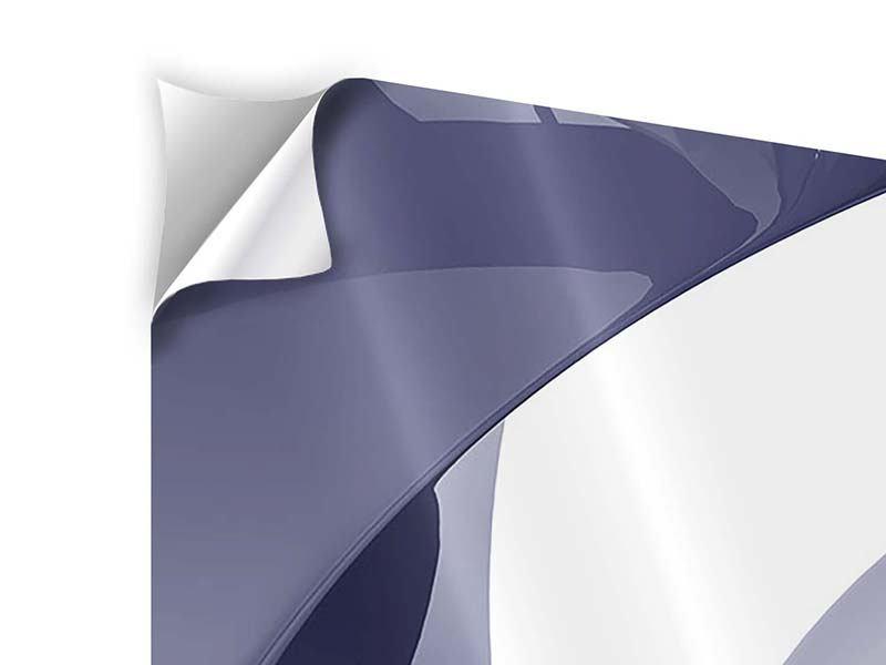 Klebeposter 4-teilig modern Abstrakte Schwingungen