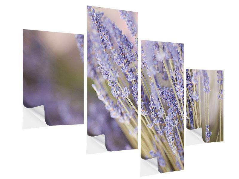 Klebeposter 4-teilig modern Lavendel XXL