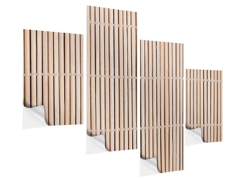 Klebeposter 4-teilig modern Lucky Bamboo
