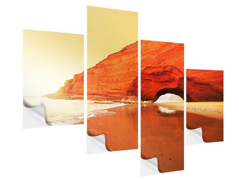 Klebeposter 4-teilig modern Wasserspiegelung