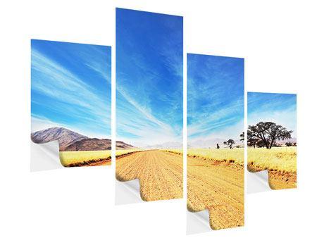 Klebeposter 4-teilig modern Eine Landschaft in Afrika