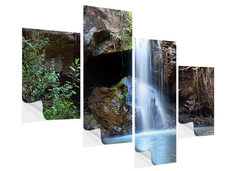 Klebeposter 4-teilig modern Die blaue Lagune