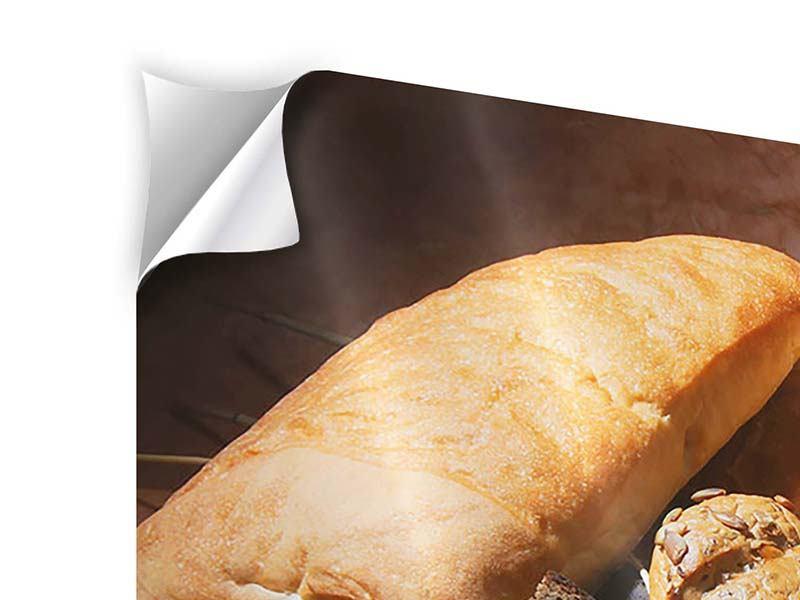 Klebeposter 4-teilig modern Frühstücksbrote