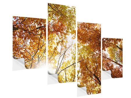 Klebeposter 4-teilig modern Herbstbäume