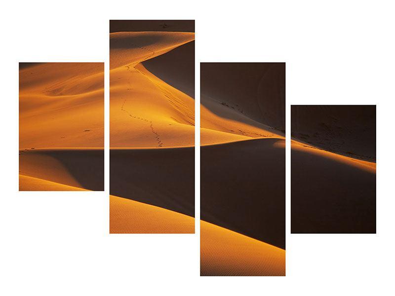 Klebeposter 4-teilig modern Wüstensand