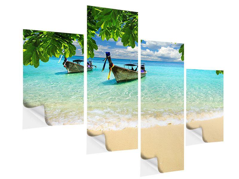 Klebeposter 4-teilig modern Ein Blick auf das Meer