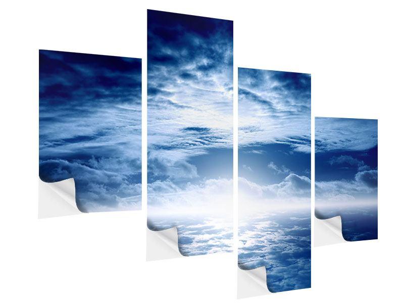 Klebeposter 4-teilig modern Mystischer Himmel