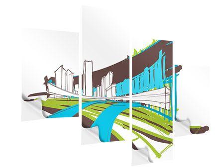 Klebeposter 4-teilig modern Graffiti Street-Art