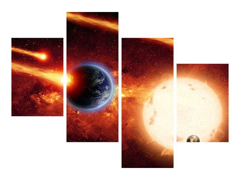 Klebeposter 4-teilig modern Der Kosmos