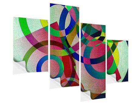 Klebeposter 4-teilig modern Wandkunst