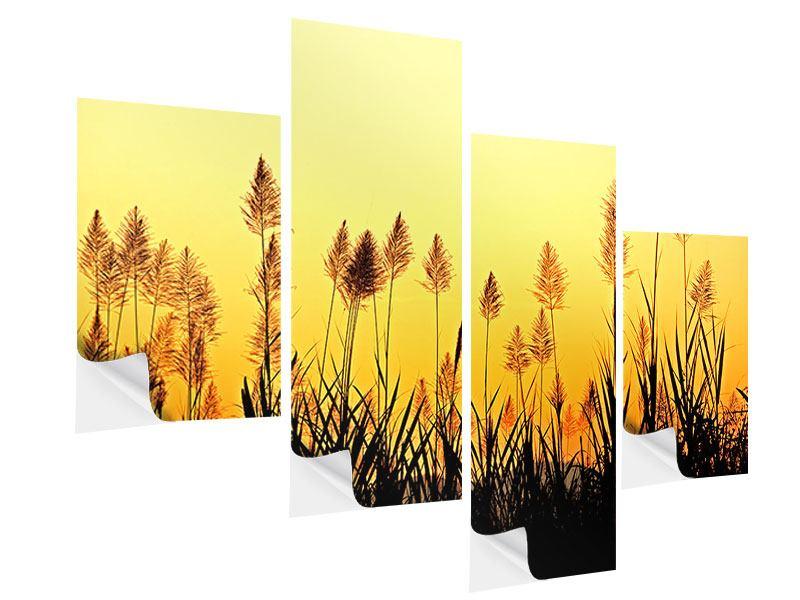 Klebeposter 4-teilig modern Die Blumen des Feldes