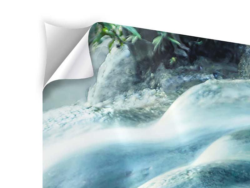Klebeposter 4-teilig modern Das Fliessende Wasser