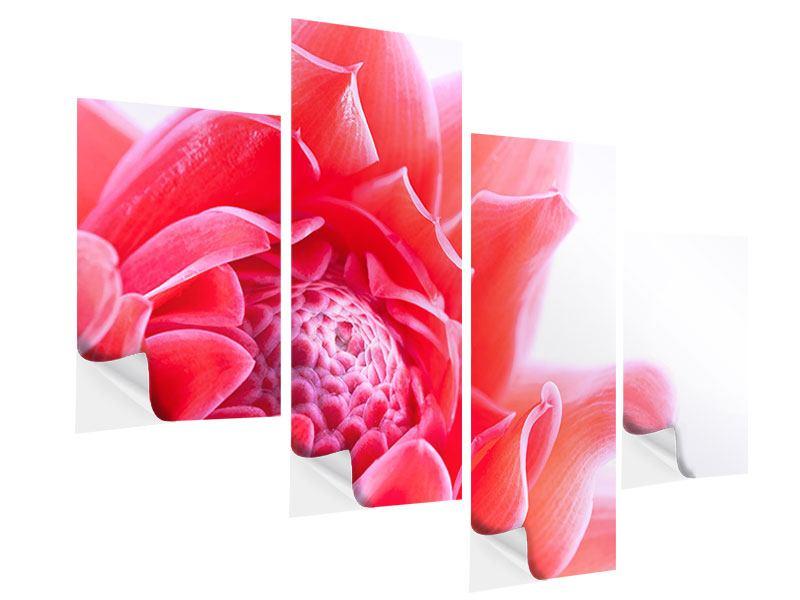Klebeposter 4-teilig modern Etlingera XXL