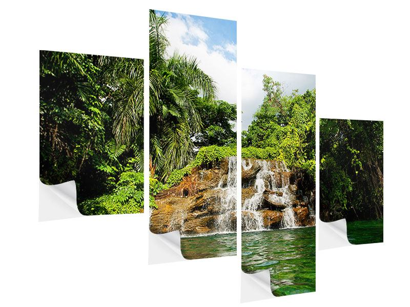Klebeposter 4-teilig modern Lagune