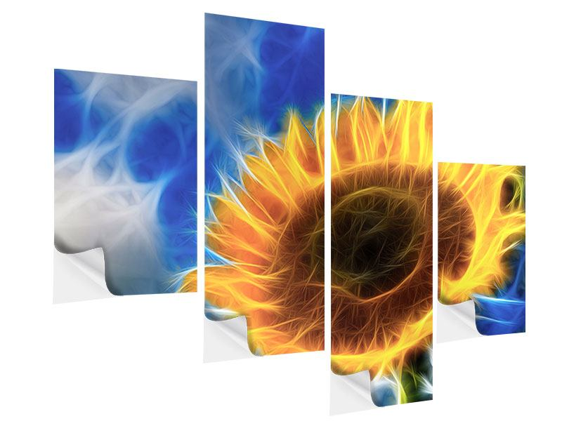 Klebeposter 4-teilig modern Der Sonne entgegen