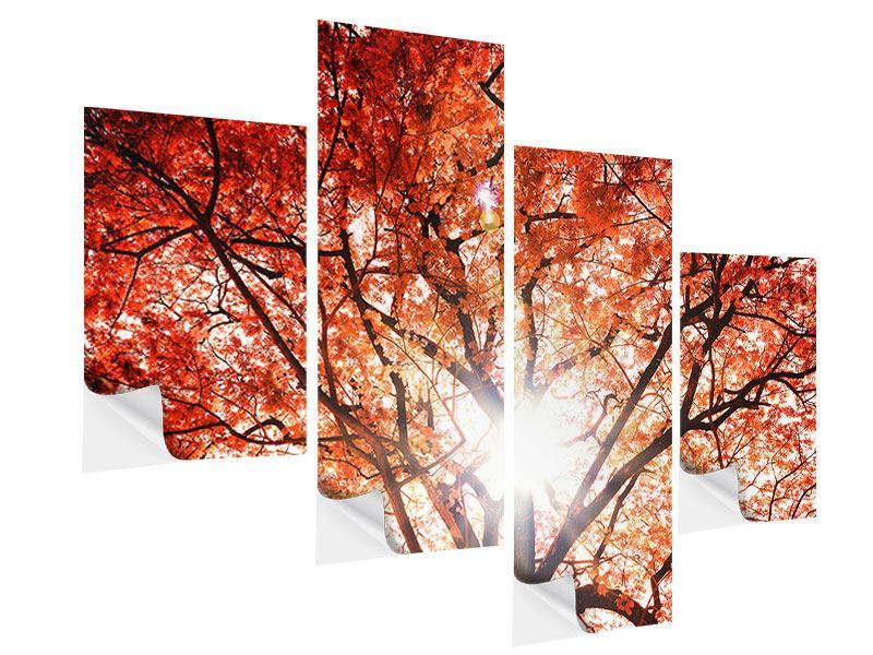 Klebeposter 4-teilig modern Herbstlicht