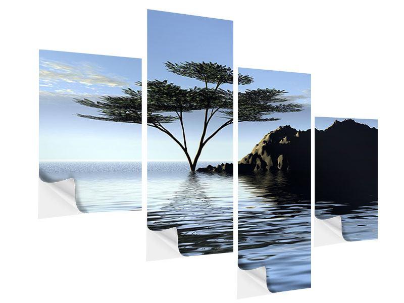 Klebeposter 4-teilig modern Naturfaszination