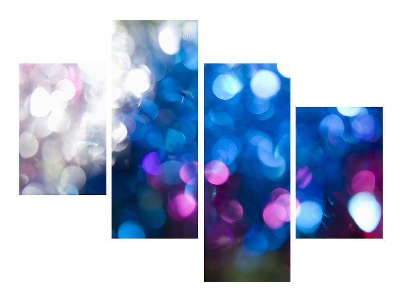 Klebeposter 4-teilig modern Abstraktes Licht