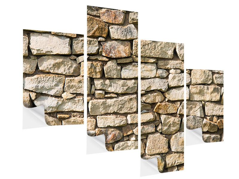 Klebeposter 4-teilig modern Natursteine