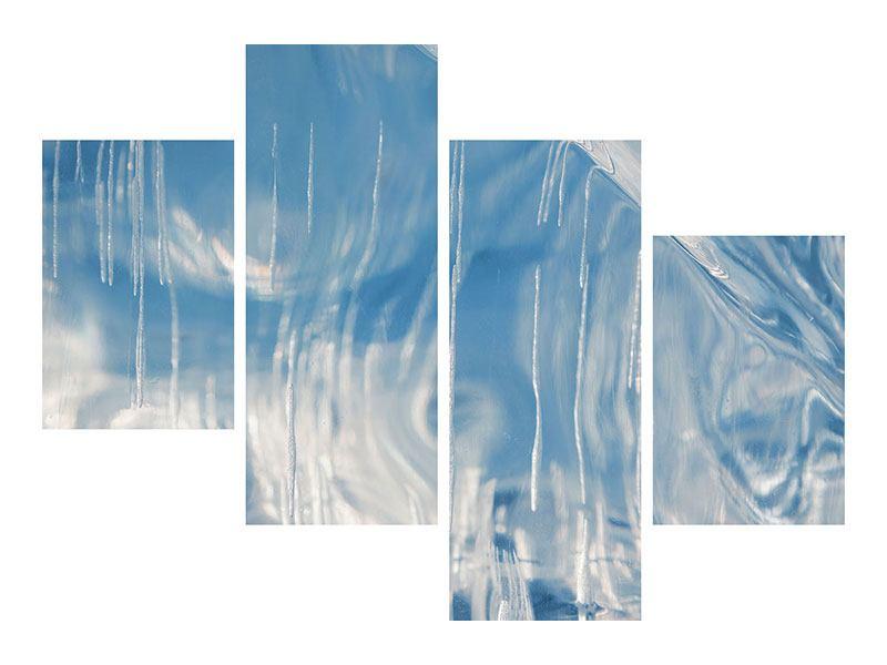 Klebeposter 4-teilig modern Das Eis des Baikalsees