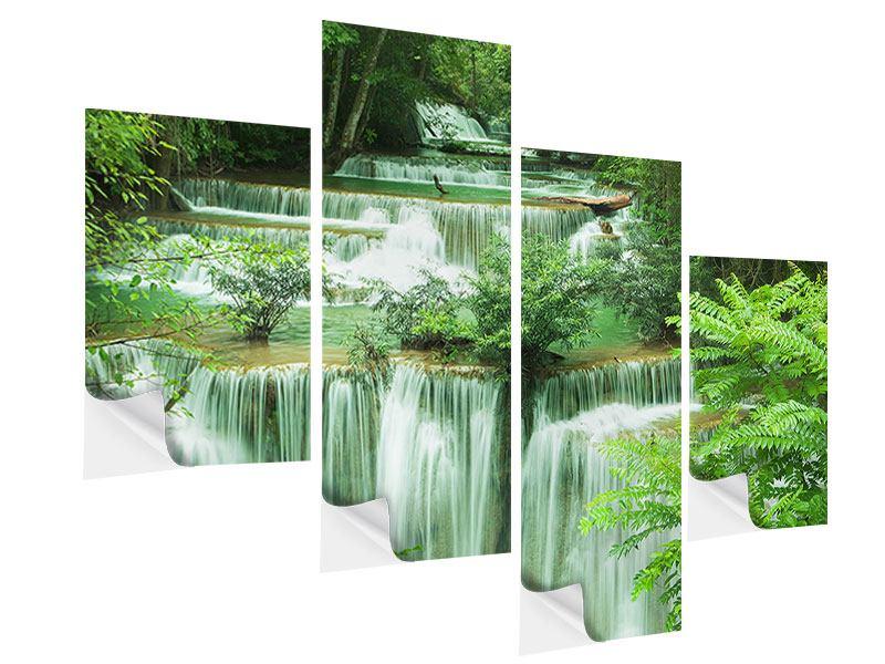 Klebeposter 4-teilig modern 7 Stufen in Thailand