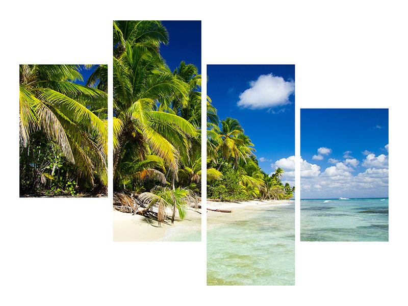 Klebeposter 4-teilig modern Die einsame Insel