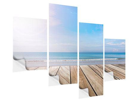 Klebeposter 4-teilig modern Das schöne Strandhaus