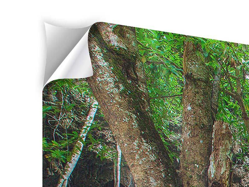 Klebeposter 4-teilig modern Fliessgewässer