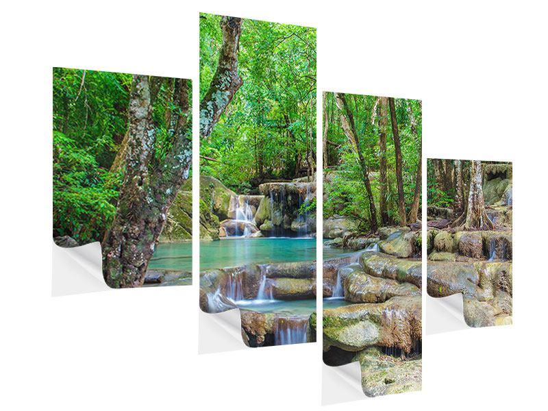 Klebeposter 4-teilig modern Wasserspektakel
