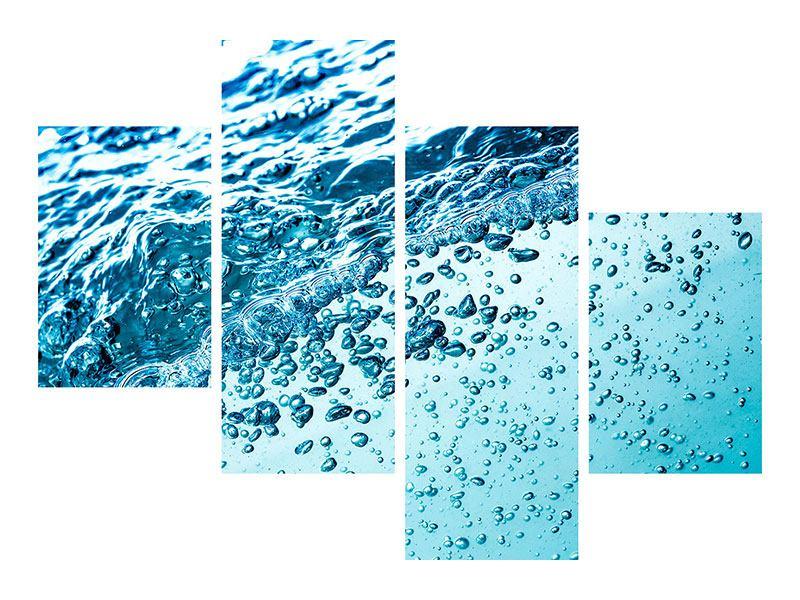 Klebeposter 4-teilig modern Wasser in Bewegung