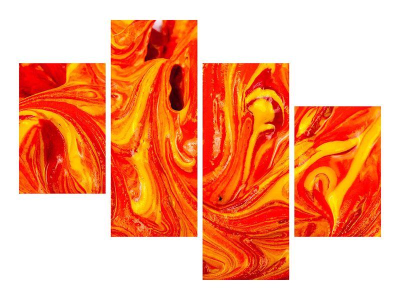 Klebeposter 4-teilig modern Wandgemälde
