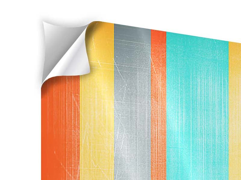 Klebeposter 4-teilig modern Grunge Streifen