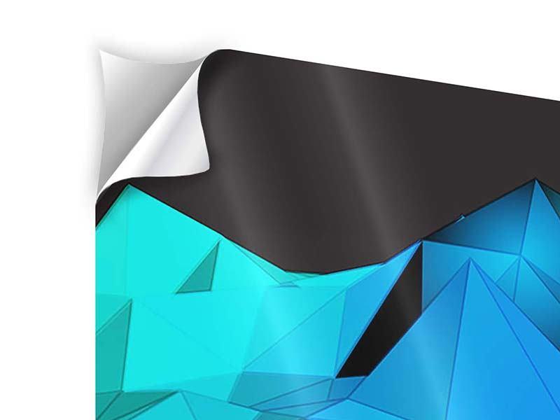 Klebeposter 4-teilig modern 3D-Diamonds