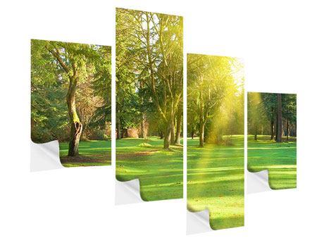 Klebeposter 4-teilig modern Im Park