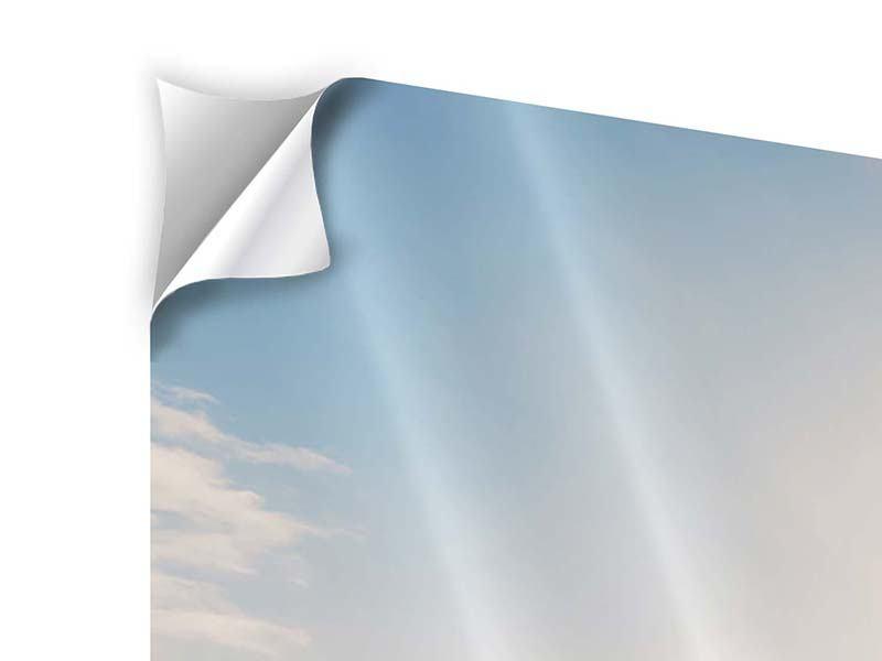 Klebeposter 4-teilig modern Eislandschaft