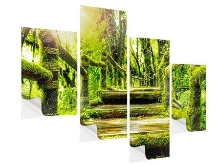 Modern 4 Piece Self-Adhesive Poster Moss