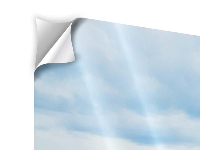 Klebeposter 4-teilig modern Ozean-Steg
