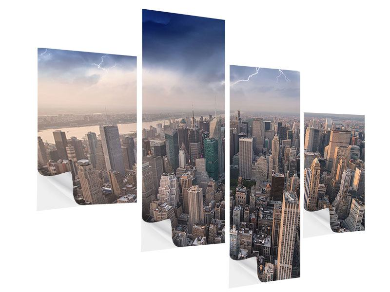 Klebeposter 4-teilig modern Manhattan